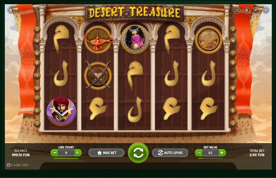 Desert Treasure slot machine screenshot