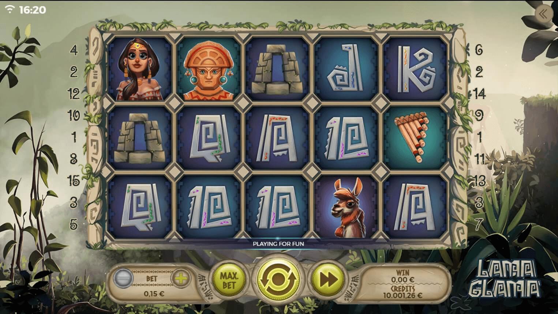 Lama Glama slot machine screenshot