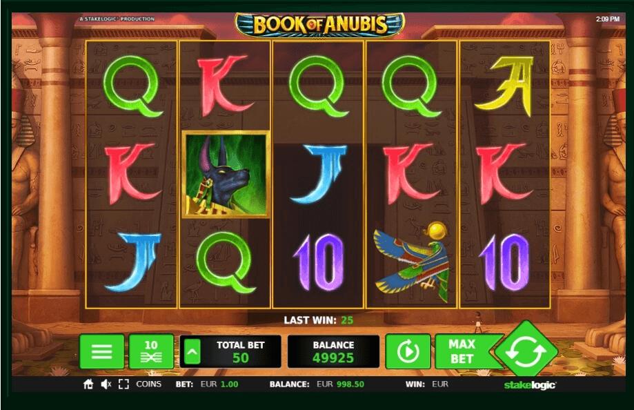 Book of Anubis slot machine screenshot