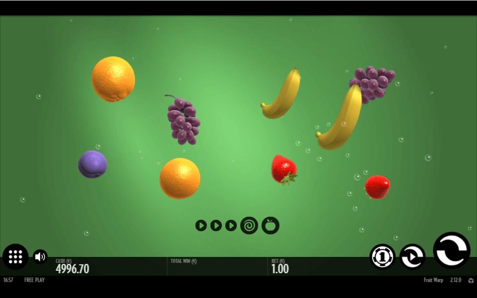 Fruit Warp slot machine screenshot