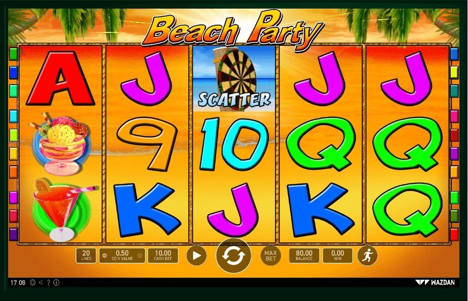 Beach Party slot machine screenshot