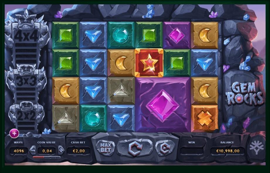 Gem Rocks slot machine screenshot