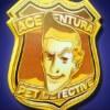 gold badge - ace ventura