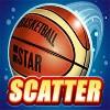 basket ball: scatter symbol - basketball star