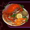 dish with seafood - big chef
