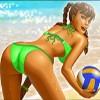 girl in a green swimsuit - bikini party