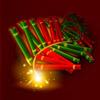 garland of crackers - gung pow