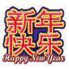 wild symbol - happy new year