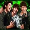 three singing men - karaoke party