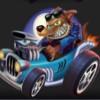 werewolf in a blue car - monster wheels