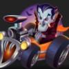 vampire in the orange car - monster wheels