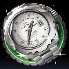 clock - pure platinum