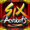 six acrobats logo: wild symbol - six acrobats