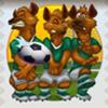 three hyenas - soccer safari