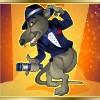 rat-singer on orange - the rat pack